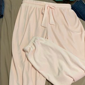 super silky smooth pink pajama or lounge pants
